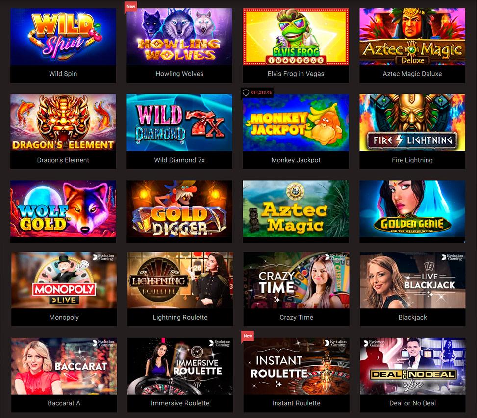 Casino games lightning